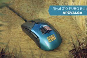 """Kompiuterio pelės """"SteelSeries Rival 310 PUBG edition"""" apžvalga"""