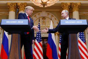 Per susitikimą Helsinkyje V. Putinas D. Trumpui pasiūlė mažinti ginkluotę