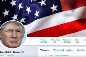 D. Trumpas išlieka daugiausiai sekėjų tviteryje turinčiu pasaulio lyderiu