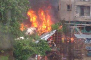 Mumbajaus lengvojo lėktuvo katastrofos aukų padaugėjo iki šešių (atnaujinta)
