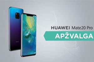 """Ar """"Huawei Mate 20 Pro"""" vertas vieno geriausių flagmanų titulo? (apžvalga)"""