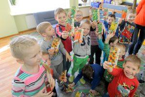 Vaikų darželyje mažieji laukia savo derliaus
