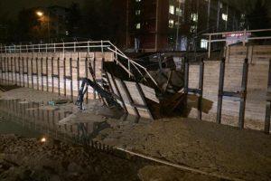 Areštuojamas avarijos Upės gatvės nuotekų linijoje kaltininkų turtas