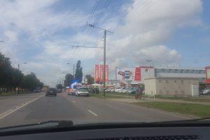 Per avariją Raudondvario pl. nukentėjo vairuotojas