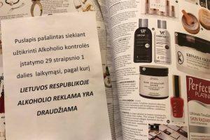 Spręs, ką daryti dėl alkoholio reklamos užsienio leidiniuose
