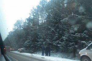 Snieguotą rytą pasipylė avarijos
