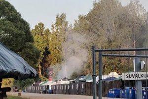 """Tarnybų sujudimas festivalyje """"Granatos Live"""" – iš kebabinės veržėsi tiršti dūmai"""
