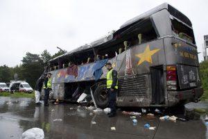 Didžiulės avarijos Lenkijoje: susidūrė per 60 automobilių