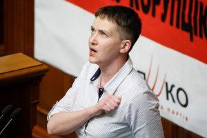 N. Savčenko paskelbė bado streiką dėl kitų karo belaisvių