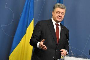 P. Porošenka ragina Europos lyderius tęsti sankcijas Rusijai