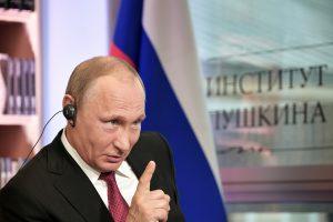 V. Putinas: kaltinimai dėl kišimosi į JAV rinkimus – demokratų prasimanymas