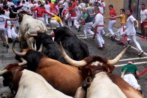 Per ketvirtąjį Pamplonos bulių bėgimą aukų išvengta