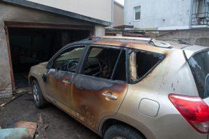 Kauno centre supleškėjo garažas (įtariamas padegimas)