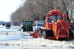 Kyla vandens lygis kelyje Šilutė–Rusnė (draudžiamas eismas)