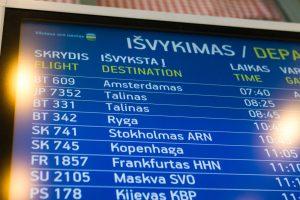 Lietuvos oro uostai: į skrydžius atvykite anksčiau