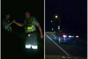 BMW gaudynės: bandė taranuoti patrulių ekipažą, bet nulėkė į griovį