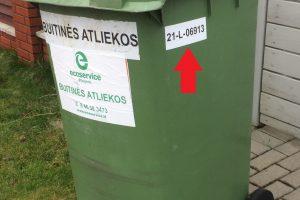 Individualių namų gyventojų dėmesiui: vykdomas atliekų konteinerių ženklinimas