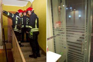 Neeilinė gelbėjimo operacija Kaune: moters koja įstrigo dušo kabinoje