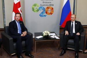 """Cameronas: G-20 viršūnių susitikimas pasiuntė """"labai aiškią žinią"""" Rusijai"""