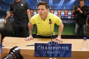 "L. Messi: nelaikau savęs ypatingu žaidėju ""Barcoje"""