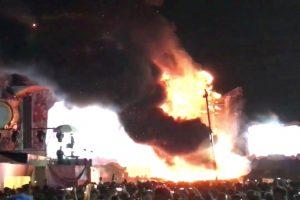 Per muzikos festivalį kilus gaisrui evakuota daugiau kaip 22 tūkst. žmonių