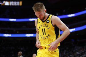 NBA: lietuviai buvo rezultatyvūs, bet D. Sabonis patyrė traumą