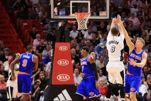 "New York ""Knicks"" su M. Kuzminsku šventė pergalę Majamyje"