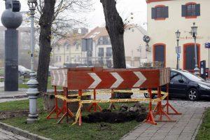 Klaipėdos senamiestyje – vandentiekio avarija