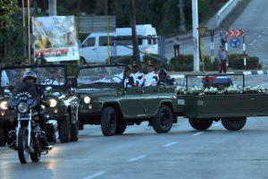 Kuboje prasidėjo F. Castro laidotuvių ceremonija