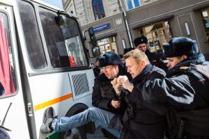 Maskvoje per taikų opozicijos protestą sulaikyti dešimtys žmonių