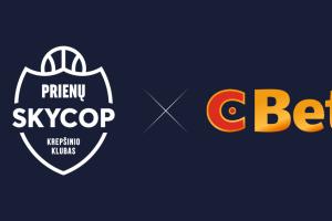 """Prienų komandos rėmėjų gretas papildė """"CBet.lt"""""""