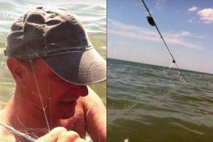 Poilsiautojams pajūryje – žvejų spąstai