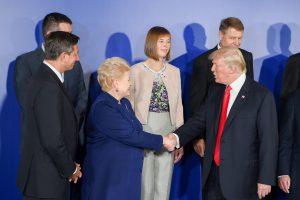 D. Grybauskaitė JAV prezidentui D.Trumpui kalbėjo apie regiono saugumą ir Astravo AE