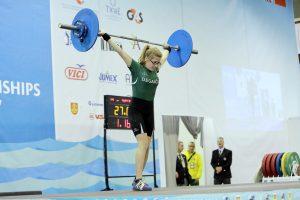 Europos jaunių sunkiosios atletikos čempionate D. Jakovlevaitė liko trylikta