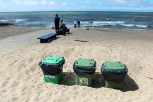 Taros ieškotojų desantas paplūdimiuose