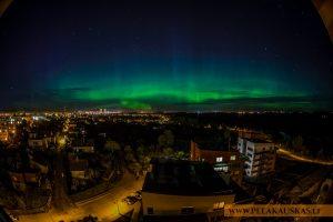 Virš Klaipėdos – šiaurės pašvaistė