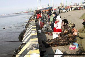 Stintų žvejai okupavo krantinę