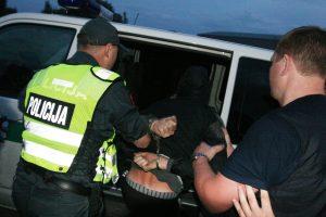 Parke sulaikyti girti policijai priešinęsi klaipėdiečiai