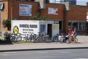 Dėl leidimo nuomoti dviračius uostamiestyje – kryžiaus keliai