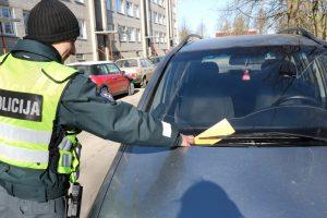 Uostamiestyje vairuotojai sulaukė baudų ir įspėjimų