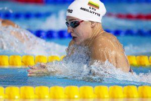 R. Meilutytė žengė į Europos čempionato pusfinalį 50 m plaukimo krūtine rungtyje