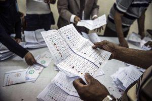 Rinkimuose Egipte dalyvavo tik kiek daugiau nei 26 proc. rinkėjų