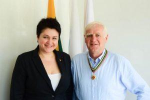 Į Lietuvą atvyko Danijos olimpinio komiteto prezidentas