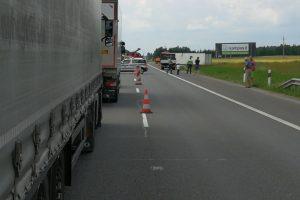 Autostradoje vilkiko avarija sutrikdė eismą