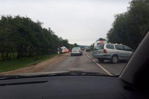 Lapių kelyje į avariją pateko greitosios pagalbos automobilis