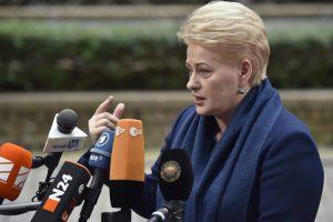 Prezidentė: Migracijos departamentą reikia ne naikinti, o pertvarkyti