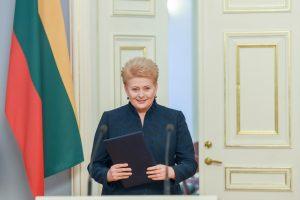 Prezidentė patvirtino S. Skvernelio ministrų kabinetą