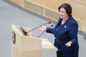 L. Graužinienė: užtenka keturių Seimo vicepirmininkų