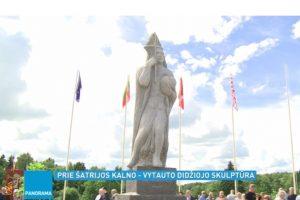 Prie Šatrijos kalno patriotiškas ūkininkas pastatė Vytauto Didžiojo paminklą