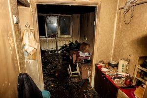 Per gaisrą Kaune nukentėjo vyras